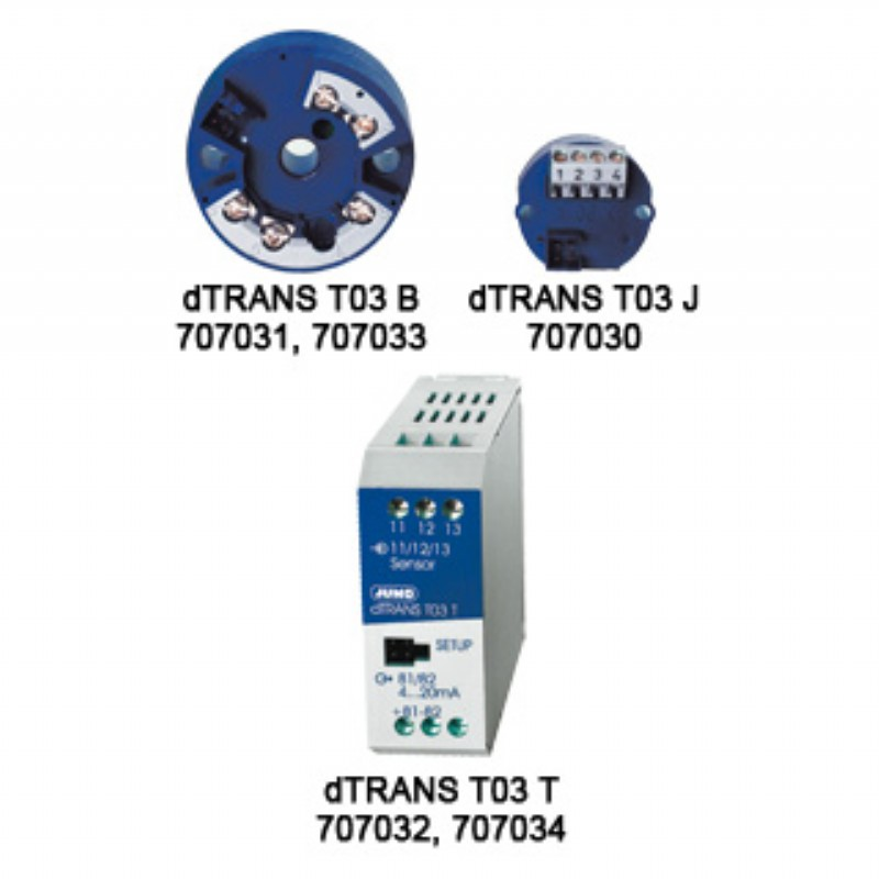 707030,JUMO temperature transmitter 707030 2-wire 3-wire transmitter ...